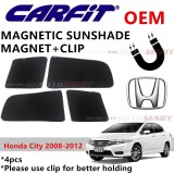 CARFIT OEM Magnetic Custom Fit Sunshade For Honda City Yr 2008-2012 (4pcs Sets)